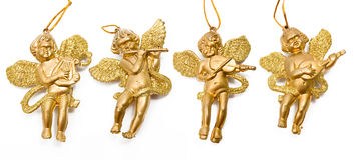 guld- änglar fyra Royaltyfri Foto