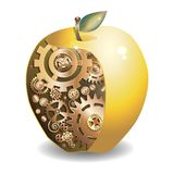 guld- äpple stock illustrationer