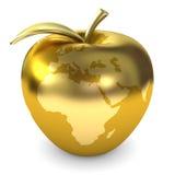 Guld- äpplejord stock illustrationer