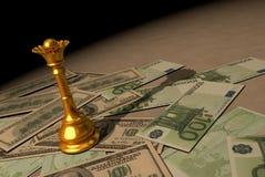 Guld är pengarna av konungar Arkivfoton