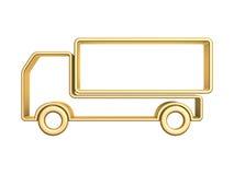 Guld- åka lastbil buktar Royaltyfria Bilder