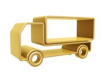 Guld- åka lastbil buktar Arkivfoton