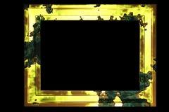 guld- åldrig ram Arkivbild