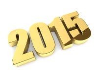 Guld- 2015 år diagram Fotografering för Bildbyråer