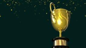Guld- ögla för vinnaretrofékopp stock illustrationer