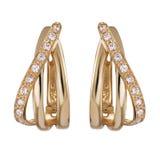 Guld- örhängen Royaltyfria Foton