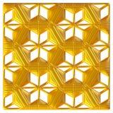 Guld- östlig prydnad bakgrund 3d Royaltyfria Foton