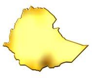 guld- översikt för 3d ethiopia royaltyfri illustrationer