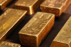 guld Arkivfoton