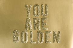 guld- Arkivbild