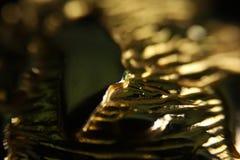 guld- abstrakt bakgrund Royaltyfri Fotografi