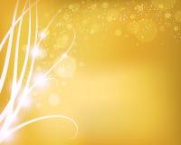 Guld- abstrakt bakgrund Arkivbild