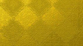 Guld- abstrakt begrepp texturerade bakgrund av fyrkanter och romber Arkivfoton
