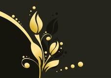 guld- abstrakt blomma Fotografering för Bildbyråer