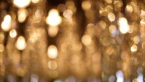 Guld- abstrakt bokeh tänder defocused bakgrund Bokeh lampor