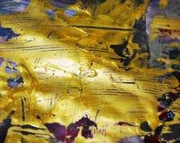 Guld- abstrakt färgrik bakgrund, guld- textur Royaltyfri Bild