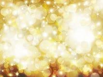 Guld- abstrakt feriebakgrund Royaltyfria Bilder