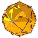 Guld- abstrakt sphere Royaltyfria Bilder