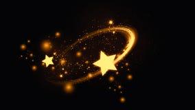 Guld- abstrakt stjärnabokehbakgrund vektor illustrationer