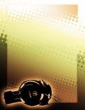 guld- affisch för bakgrundsdj Fotografering för Bildbyråer