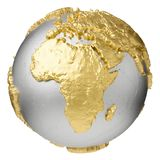 Guld- Afrika stock illustrationer
