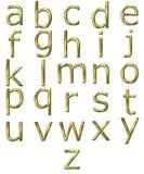 guld- alfabet 3d Royaltyfri Fotografi