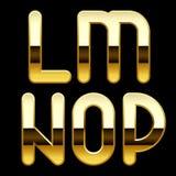 Guld- alfabetbokstäver Arkivbild