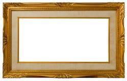 guld- antik ram Arkivbilder