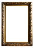guld- antik ram Arkivfoto