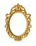 Guld- antik ram Royaltyfri Bild