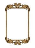 guld- antik ram Royaltyfri Fotografi