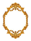 guld- antik ram Arkivbild