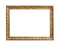 guld- antik ram fotografering för bildbyråer