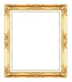 Guld- antika bildramar Isolerat på vit Royaltyfri Bild
