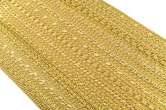 Guld- armband, halsband Royaltyfria Bilder