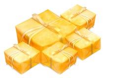 guld- askgåva Royaltyfria Bilder