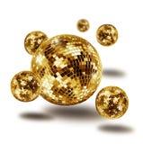 Guld- atomium för diskospegelboll Royaltyfria Bilder