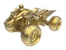 Guld- ATV royaltyfri illustrationer
