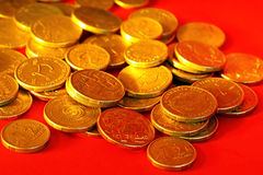 guld- aussie dollar Arkivbild
