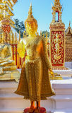 Guld- bärnstensfärgade buddha på Wat Doi Suthep Chiang Mai Thailand Royaltyfri Fotografi