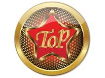 Guld- bästa knappvektor EPS 10 Royaltyfri Bild