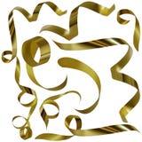 guld- b-konfettiar Arkivfoton