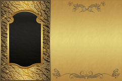 guld- bakgrund Royaltyfri Fotografi