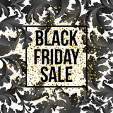 Guld- bakgrund för Black Friday försäljningsbokstäver Mall för din design, inbjudan, reklamblad, kort, gåva, kupong royaltyfri illustrationer