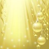 Guld- bakgrund för jul Royaltyfri Bild