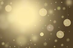 Guld- bakgrund för jul Royaltyfria Bilder