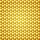 Guld- bakgrund för kolkevlar textur Fotografering för Bildbyråer