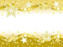 Guld- bakgrund för stjärnaberömparti med tomt utrymme Fotografering för Bildbyråer