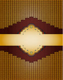 Guld- bakgrund för tappning. Royaltyfri Fotografi