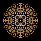 Guld- bakgrund i formen av en blomma Österlänningen mönstrar Royaltyfri Bild
